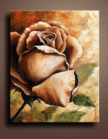 beginners acrylic painting canvas easy oil paintings floral rose flowers homesthetics enthusiastic beginner paint print wall decor simple flower etsy