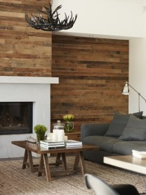 rustic walls wooden wall examples catching accent living eye wood fireplace rustikale home2