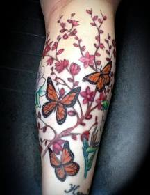 arm tattoo designs tattoos ladies butterfly awesome smoking idea butterflies flowers colorful