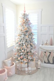 tree pink christmas blush michaels dream party gold rose kara challenge flocked inspired reveal excited holiday