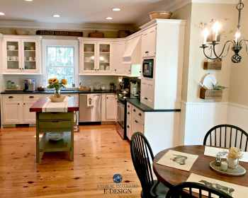 farmhouse kitchen moore benjamin buff powell country kylie pine wood flooring paint