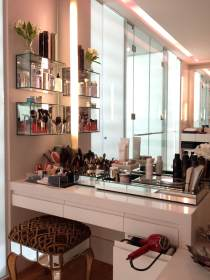 vanity makeup bathroom glass chrome accents updated designs homebnc