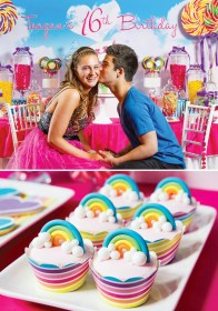 birthday party teen teenage perry katy theme sweet teens themes parties rainbow inspired games themed cupcakes homemydesign sixteen young dream