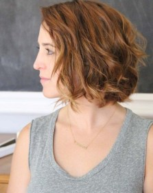 wavy bob short hair hairstyles hairstyle curly length beachy haircuts medium angled waves delightful styles stunning credit copper