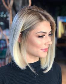 bob long hair hairstyle blonde hairstyles cut blunt haircuts blond trend frisur wear medium length trends ways stunning via thick