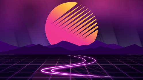 Sunset Neon Artwork Wallpapers HD Wallpapers ID #24369