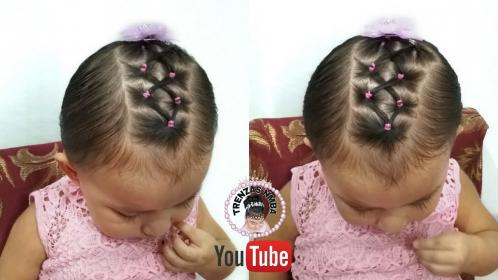 con ligas baby hairstyles