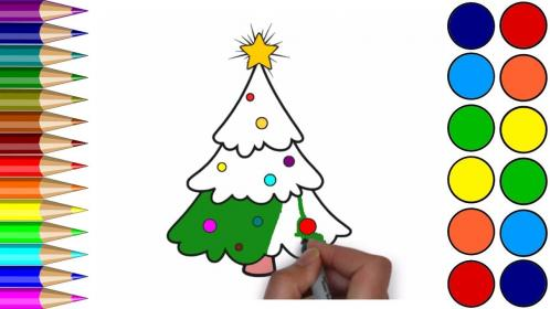 christmas drawing children tree coloring pages xmas drawings learn paintingvalley getdrawings