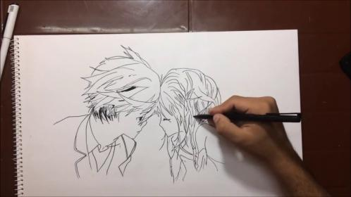 boy drawing pencil sketch couple drawings couples must getdrawings paintingvalley