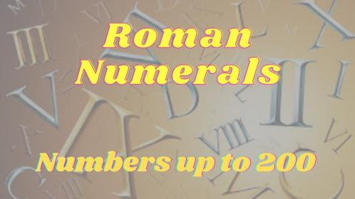roman numerals numbers 200 40