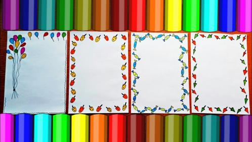 Border Designs On Paper Project Design Ideas How to