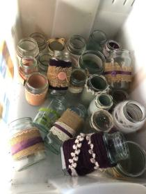jam jars decorated garden ended ad