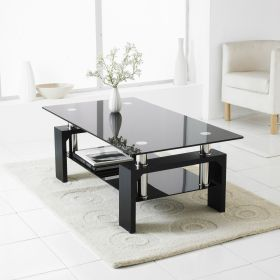 coffee table glass living chrome modern rectangle tables shelf lower silver oval
