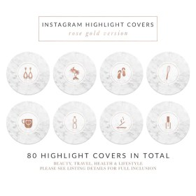 highlight covers icon story rose icons highlights marble travel marmor lifestyle