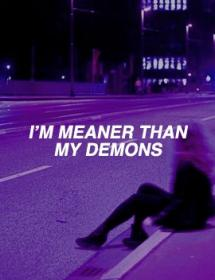 aesthetic purple dark quote quotes halsey grunge violet control sad lavender name meaner demons esthetic than