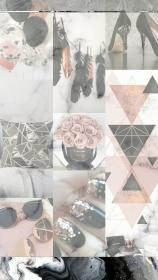aesthetic rose gold collage wallpapers backgrounds iphone laptop cute grey pink marble girly background desktop peach lock screens quotes hd