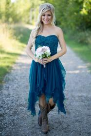 country bridesmaid teal lace chiffon low bridesmaids turquoise cheap dhgate gowns