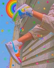 indie aesthetic shoes collage clothes wallpapers bad iphone rainbow hobicore retro em