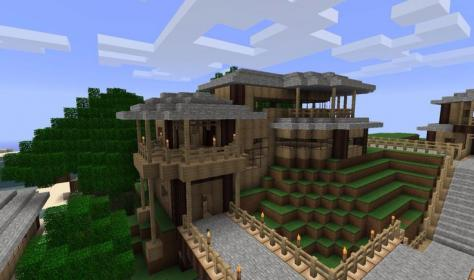 minecraft cool designs houses simple xbox modern starter ekran goruntuleri update creation survival screenshots awesome build blueprints forums source