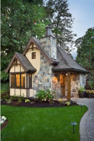 cottage stone exterior homes manor designs traditional trim victorian tiny porch brick outdoor plans path cream charming brown pats tudor