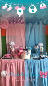 reveal gender decorations party baby diy decor shower dollar decorating tree box table themes boy inexpensive parties discover mom halloween