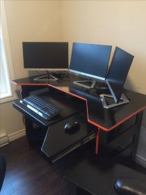 gaming desk computer desks pc table gamer setup gamers diy room dangerous elite built bureau pcs play setups