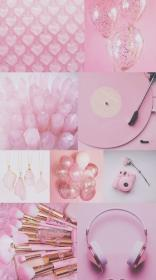 collage pink aesthetic baby glitter