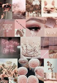 rose aesthetic pink collage backgrounds iphone wallpapers pastel rosegold wattpad potter imagines heart pretty quotes completed harry olivia story lockscreen