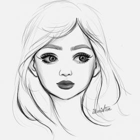 sketches sketch drawings simple faces pencil drawing draw anime dessin girly desenhos template realistic cartoon random colorir portrait sketching coloring
