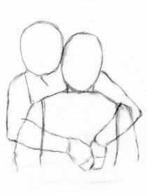 Four Easy Methods for Drawing People Hugging (With images
