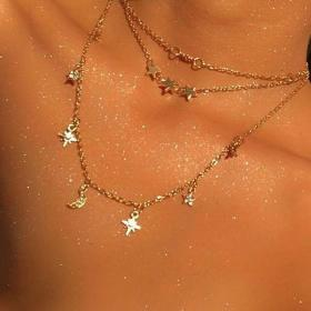 aesthetic glitter soft jewelry necklace star glow flowers pink