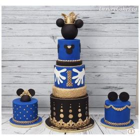 mickey mouse royal cake birthday baby shower prince party cakes table minnie instagram swipe sweet