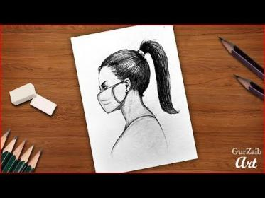mask drawing draw face wearing step pencil easy drawings masks simple tutorial