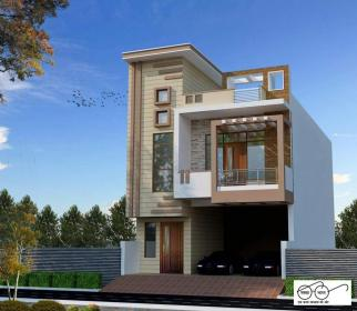 elevation front modern duplex designs double story houses india storey plans building indian bungalow architecture cost dream