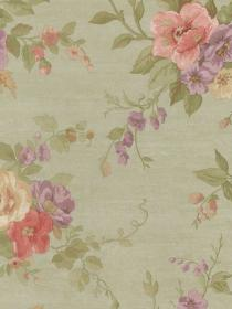 sage roses vining floral wallpapers wainscoting samples shabby chic