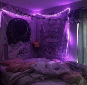 Pastel Purple Aesthetic Rooms With Led Lights Novocom Top