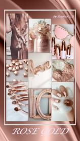 aesthetic rose gold collage mood colors pantone metallic board pink colour reyhan uploaded user template themes