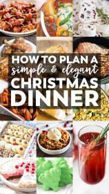 dinner menu christmas elegant eve simple plan easy dinners unique recipes yellowblissroad buffet dishes meals side sides holiday main special