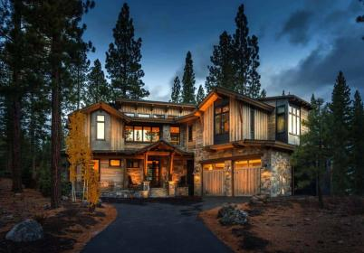 cabin mountain cottage homes rustic ranch camp craftsman blends mediterranean woodsy woods suburban tuscan inc onekindesign architecture spanish