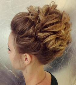 updo thin hair updos short fine medium curly messy hairstyle wavy shorter therighthairstyles