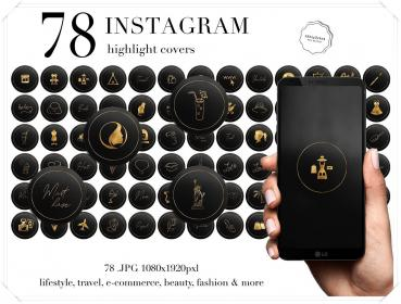 Instagram Story Highlight Covers Instagram Icons Gold