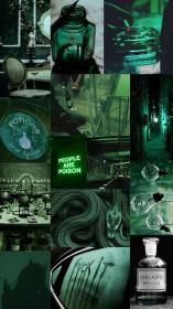 collage aesthetic dark slytherin harry colors wallpapers vsco iphone poison pastel