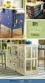 kitchen island furniture wheels projects islands build plans kitchens repurposed painted using idea cabinets later portable desk indulgy collect tutorials
