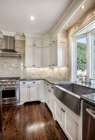 farmhouse kitchen cabinets rustic remodel oneonroom inspiration island floor