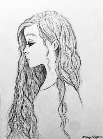 hair drawing draw sketch haired drawings hairstyles tips styles