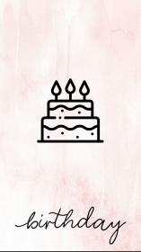 instagram highlight birthday story template insta pink lnstagram icon grey gray cute posts backgrounds iphone disney