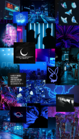 aesthetic neon iphone ios phone collage shayna homescreen purple wallpapers