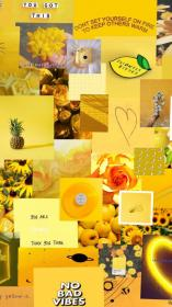aesthetic yellow wallpapers pastel backgrounds collage desktop phone anime iphone tablet cartoon