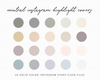 palette neutral ig highlight insta highlights covers ombre warm icons fall solid earthy template feed templates autumn colors colour