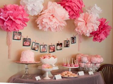 shower decorations decoration themes birthday decor showers babyshower parties idea centerpieces unique fiesta cookies decorating table girly pink centerpiece simple